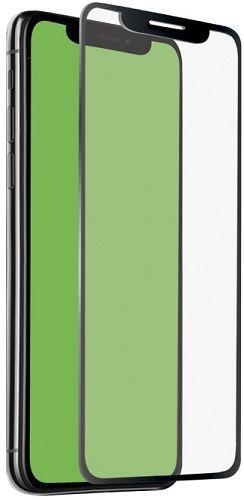 SBS 4D tvrdené sklo pre Apple iPhone Xr s aplikátorom, čierna