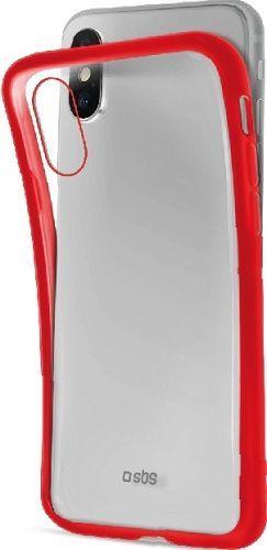 SBS silikónové puzdro pre Apple iPhone Xs Max, červené