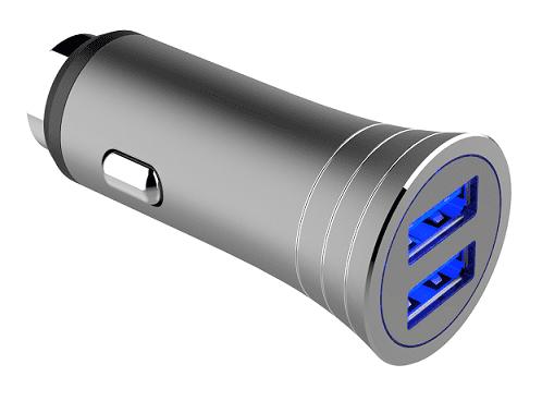 Winner USB autonabíjačka strieborná + USB-C kábel