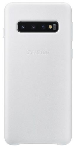 Samsung Leather Cover pre Samsung Galaxy S10+, biela