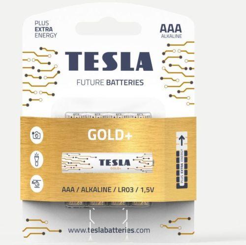 TESLA GOLD+ AAA 4ks, alkalická batéria