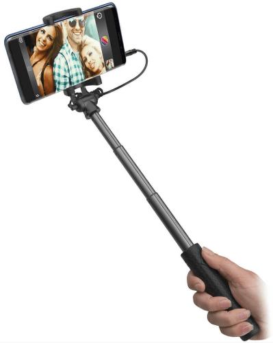 SBS teleskopická selfie tyč s 3,5 mm konektorom, čierna