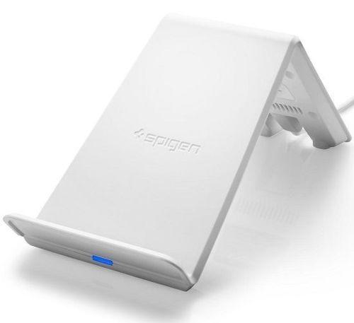 Spigen Essential F303W bezdrôtová nabíjačka, biela