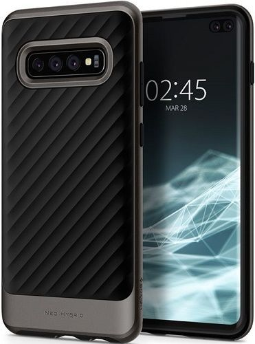 Spigen Neo Hybrid puzdro pre Samsung Galaxy S10+, metalická