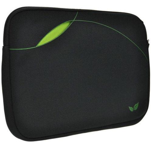 """SOLIGHT 1N23 neoprénové puzdro na netbook alebo tablet 7 """"- 11.6"""", čierne/zelené"""