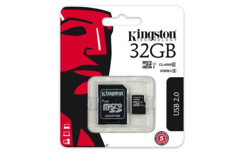 KINGSTON 32GB microSDHC 45MB/10MBs UHS-I class10 Gen 2