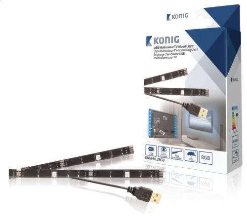 KONIG KNM-ML2RGB USB TV náladové osvetlenie, 2 LED, 50 cm