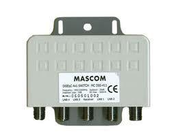 Mascom LNB-MCDSS411 - DiSEqC přepínač pro 4 LNB, venkovní provedení