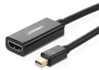 Ugreen 10461 Mini Display Port na HDMI samice konvertor kabel černý