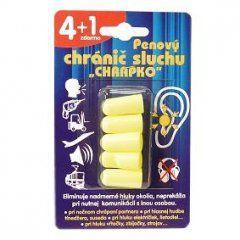 INTERPHARM Chrapko penový chránič sluchu, 4+1ks