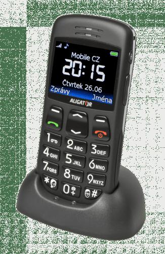Aligator A670 (černý) - mobilní telefon