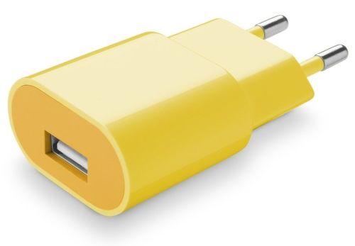 CellularLine Style&Color Sieťová nabíjačka 1A (žltá)