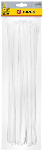 TOPEX 7,6 x 500 mm 75 ks, biela