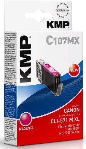 KMP CLI571M XL, C107MX recyk. náplň