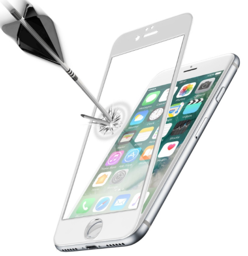 CELLULAR LINE iPhone 7 WHI, Tvrdené sklo