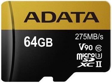 A-DATA microSDXC 64 GB 275 MBS U3 CLASS 10 UHS-II