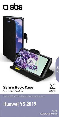SBS Book Sense puzdro pre Huawei Y5 2019, čierna
