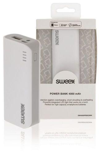 Sweex powerbanka 4000 mAh, biela