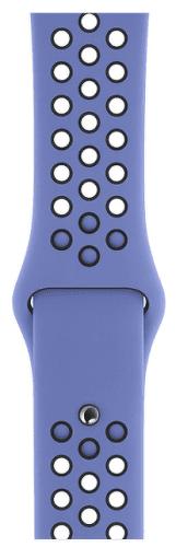 Apple Watch 44 mm Nike sportovní remienok S/M a M/L, noblesne modrý/čierny