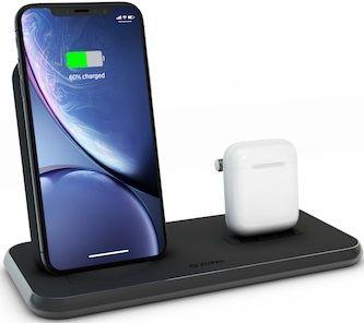 Zens Stand + Dock Aluminium bezdrôtová nabíjačka 10W Qi, čierna