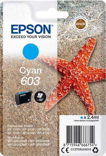 Epson 603 C13T03U24010 azúrová