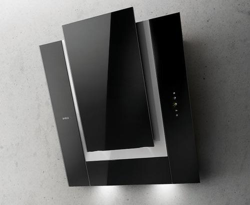 Elica ICO BL/F/80, čierny nástenný odsávač pár