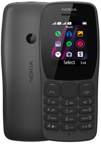 Nokia 110 Dual SIM čierny