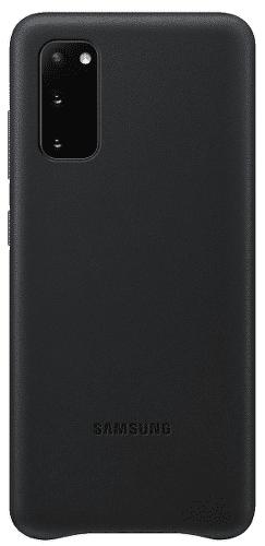 Samsung Leather Cover puzdro pre Samsung Galaxy S20, čierna