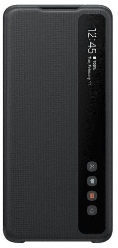 Samsung Clear View Cover puzdro pre Samsung Galaxy S20 Ultra, čierna