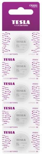 TESLA CR2032 5ks litiová batéria