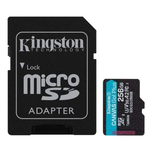Kingston Canvas Go Plus 256 GB mSDXC U3 V30 + SD Adaptér