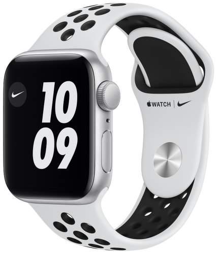 Apple Watch SE Nike 40 mm strieborný hliník / platinový / čierny športový remienok Nike__USEN-1