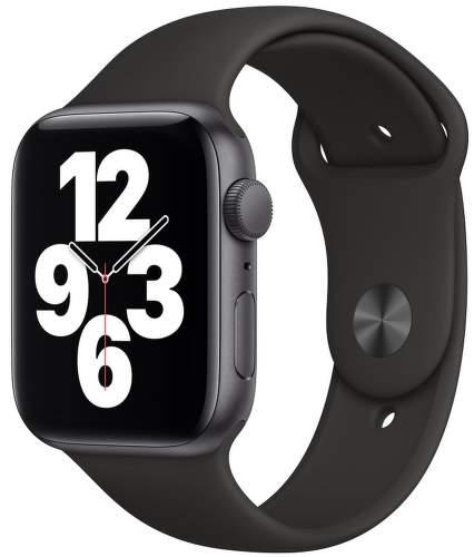 Apple Watch SE 44 mm vesmírne sivý hliník s čiernym športovým remienkom-1