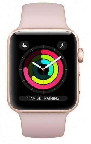 Renewd - Obnovené Apple Watch Series 3 38mm zlato-ružová