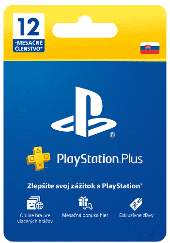 PlayStation Plus 12-mesačné členstvo - Predplatná karta