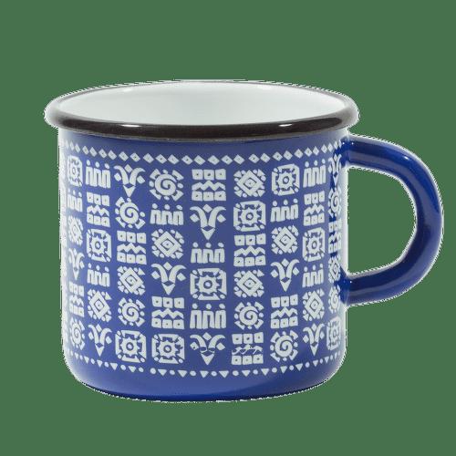 Štrbské Presso smaltovaný modrý hrnček Tatry