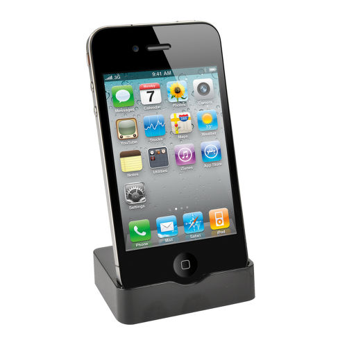 MUVIT Dokovacia stanica pre iPhone 4, čierna