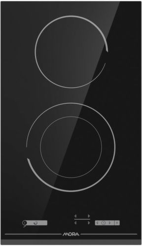 MORA VDST 322 FF, čierna domino sklokeramická varná doska