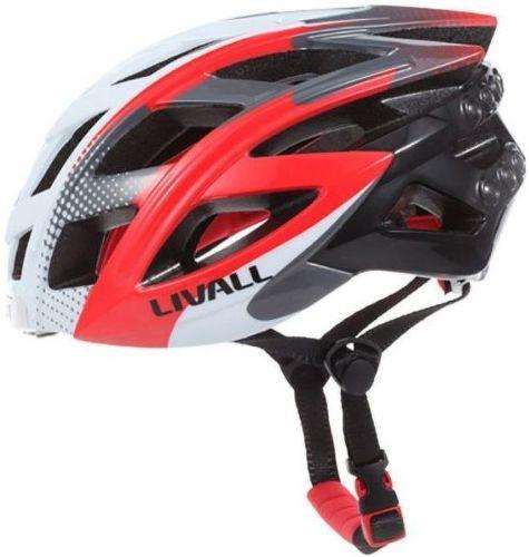 Livall BH60, cyklo prilba M-L bielo-červená