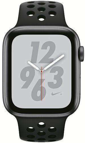 Apple Watch Series 4 Nike+ 44mm vesmírne šedý hliník/anatracitový/čierny športový remienok Nike