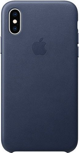 Apple kožené puzdro pre Apple iPhone XS, polnočná modráApple kožené puzdro pre Apple iPhone XS, polnočná modrá