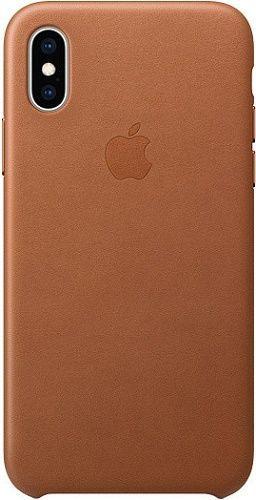 Apple kožené puzdro pre Apple iPhone XS, sedlovo hnedá
