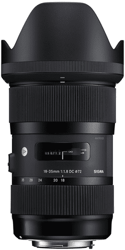 Sigma 18-35mm f/1.8 DG HSM Art Lens pre Nikon