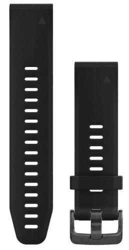 Garmin QuickFit 20 remienok, čierny s tmavou sponou