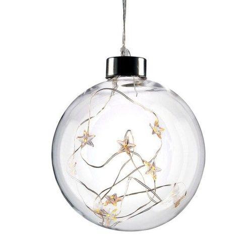 Solight 1V204 LED vianočná gula sklenená