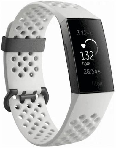Fitbit Charge 3 Special Edition (NFC) čierne s bielým remienkom