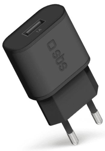 SBS USB cestovná nabíjačka 1 A, čierna