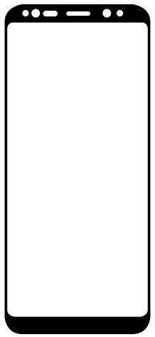 Qsklo tvrdené sklo pre Samsung Galaxy Note9, čierna