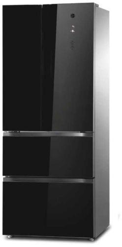 Hoover HMDN 182 EU, čierna kombinovaná chladnička
