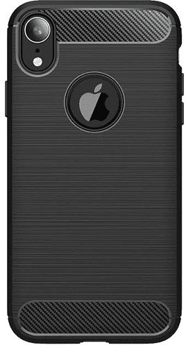 Winner Carbon puzdro pre Apple iPhone Xr, čierna
